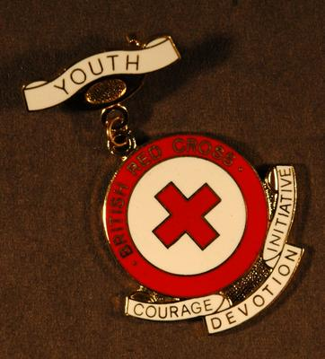 Junior Red Cross meritorious service badge