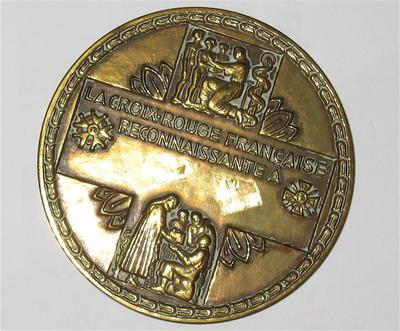 La Croix-Rouge Francaise Reconnaissante A medallion