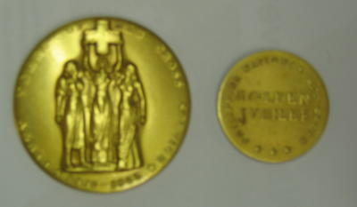 Philippine National Red Cross Golden Jubilee Medal miniature: 50 Years of Red Cross Service 1905-1955