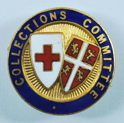 Small circular badge: Collections Committee. Engraved on the reverse: 2461.