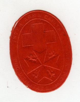 souvenir produced by the British Red Cross and St John for flag days