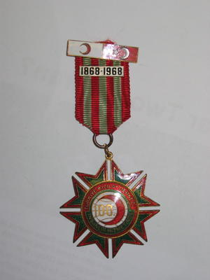 Turkish Red Crescent Society Centenary medal 1868-1968