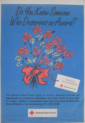 poster advertising The British Red Cross Care In Crisis Awards