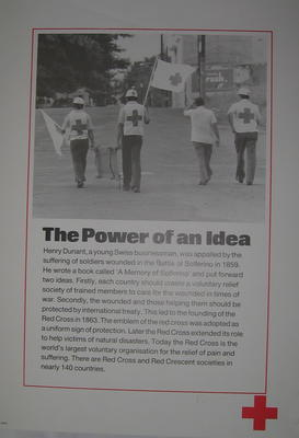 One of a set of ten posters: The Power of an Idea.