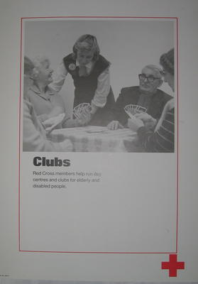 One of a set of ten posters: Clubs