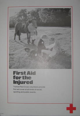 One of a set of ten posters: First Aid for the Injured