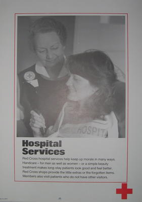 One of a set of ten posters: Hospital Services