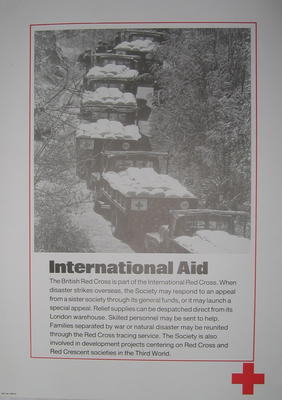 One of a set of ten posters: International Aid