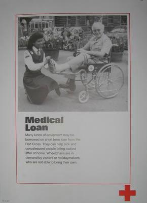 One of a set of ten posters: Medical Loan