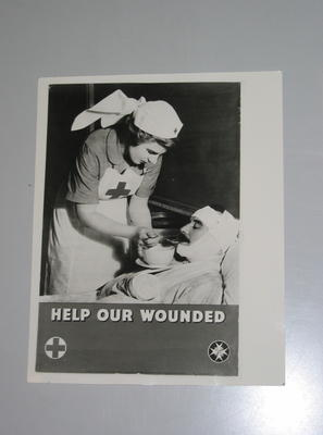 photograph of poster: Help our wounded