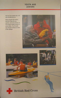 Set of 5 large laminated posters illustrating the work of the BRC: Youth and Juniors