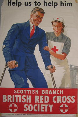 Scottish Branch British Red Cross Society fundraising poster
