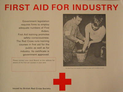 poster: 'First Aid for Industry'
