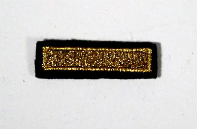 Service award consisting of a gold stripe: 12 Years Service.