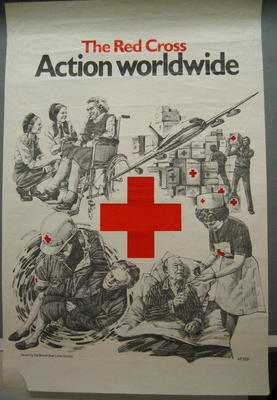 Large poster: The Red Cross Action Worldwide