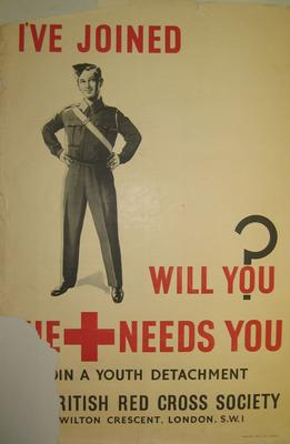 Junior Red Cross poster; Printed Docs (museum)/poster; 2391/1