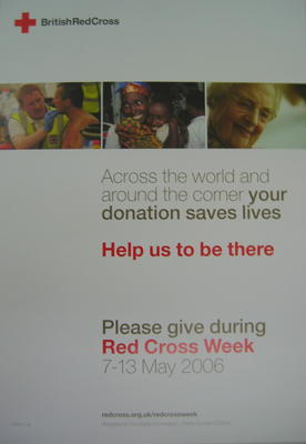 poster advertising Red Cross Week 7-13 May 2006