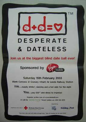 poster advertising the Desperate & Dateless ball