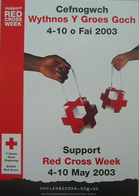 Small poster: Cefnogwch Wythnos Y Groes Goch 4-10 o Fai 2003.