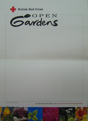 poster: British Red Cross Open Gardens
