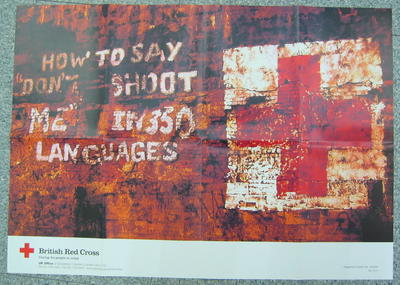 """poster: 'How to say """"Don't shoot me""""in 350 languages'"""