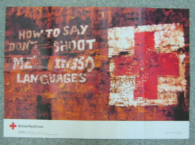 """Poster: 'How to say """"Don't shoot me"""" in 350 languages.'"""