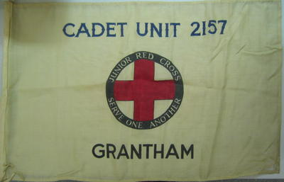 Large flag printed with Cadet Unit 2157 Grantham