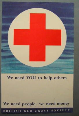 Poster appealing for donations and volunteers
