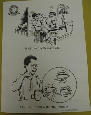 Overseas poster: Junior Red Cross - Wash Thoroughly Every Day