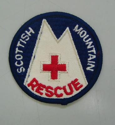 cloth badge: Scottish Mountain Rescue; Uniforms/badge; 2440/1