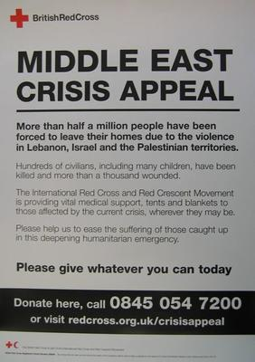Middle East Crisis Appeal poster