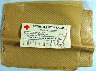 Paper pattern for a Nurse's Apron