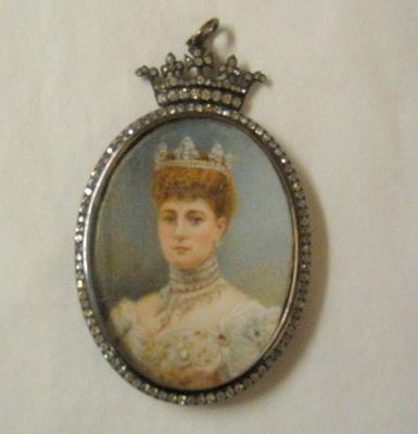 Small framed portrait of Queen Alexandra