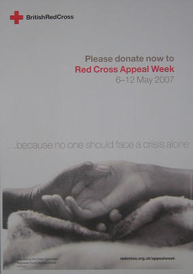 Red Cross Appeal Week poster.