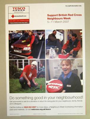 Poster produced to support British Red Cross Neighbours Week, 5-11 March 2007