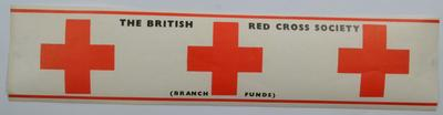 sticker: The British Red Cross Society (Branch Funds)