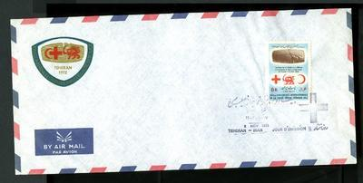 envelope: 'XX11 Conference Internationale de la Croix-Rouge. Tehran 1973'