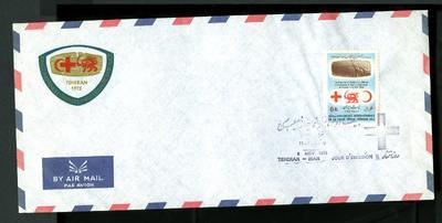 Envelope: 'XX11 Conference Internationale de la Croix-Rouge. Tehran 1973'