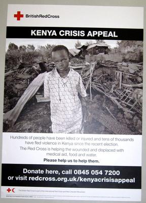 poster advertising the Kenya Crisis Appeal