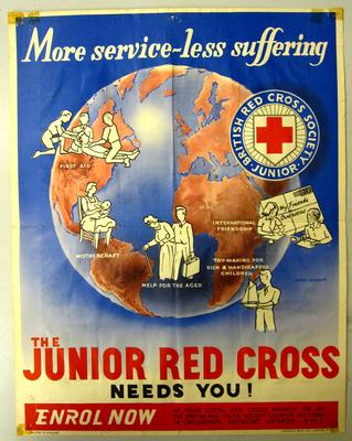 Junior Red Cross recruitment poster; Charles & Read Ltd.; Printed Docs (museum)/poster; 2694/13