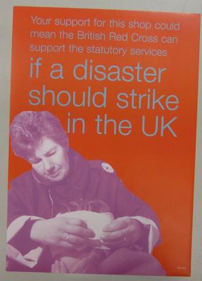 Poster to be used in British Red Cross shops