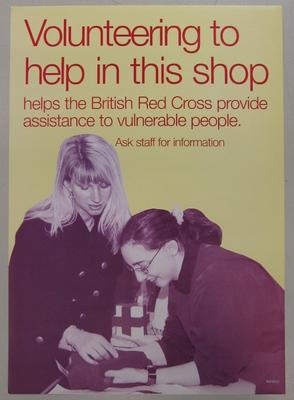 Poster used in British Red Cross shops.