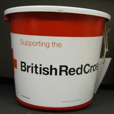 British Red Cross collecting bucket