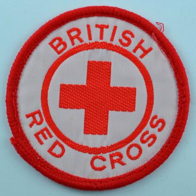 Circular cloth badge: British Red Cross