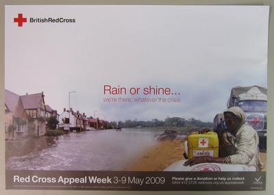 poster advertising Red Cross Appeal Week 2009; Printed Docs (museum)/poster; 2800/13