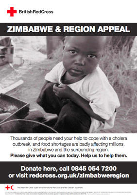 Zimbabwe and Region Appeal poster (UK version)