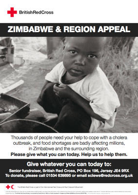 Zimbabwe and Region Appeal poster (Jersey version)