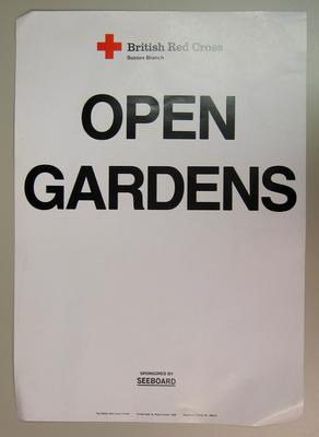 blank poster to be used at an Open Garden event