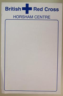 blank poster to be used for events held by Horsham Centre