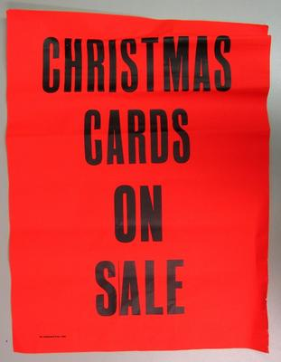poster advertising Christmas cards for sale